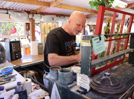 Norm the Artist Vendor at Shipshewana Flea Market