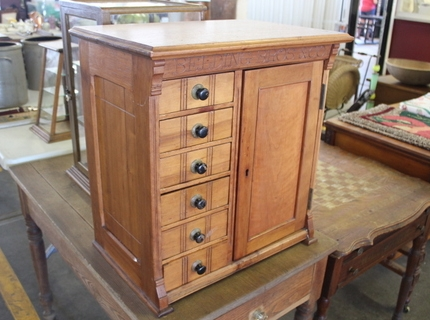 Spool Cabinet at the Shipshewana Indiana Antique & Misc. Auction