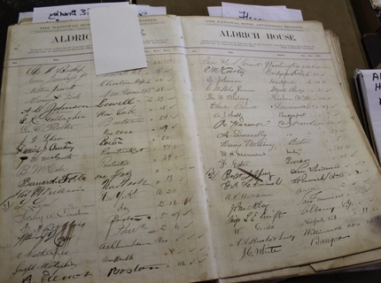 Hotel Registry signed by Ulysses Grant at Shipshewana Indiana Auction