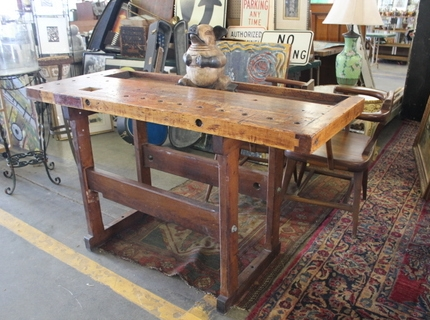 Shipshewana Antique and Miscellaneous Auction Indiana Work Bench