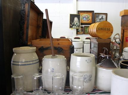 Stoneware Churns at Shipshewana Antique Auction September 28, 2016