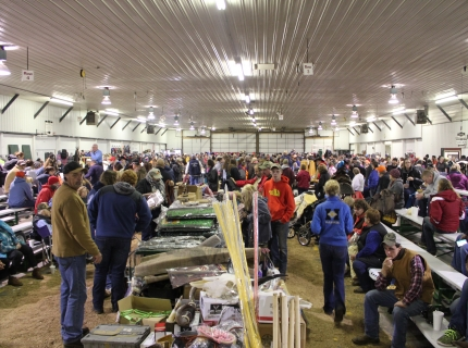 Good Friday Shipshewana Indiana Tack Auction in Antique & Misc Building