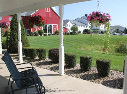 Enjoying the Slow Life on the Porch at Shipshewana's Farmstead Inn & Conference Center