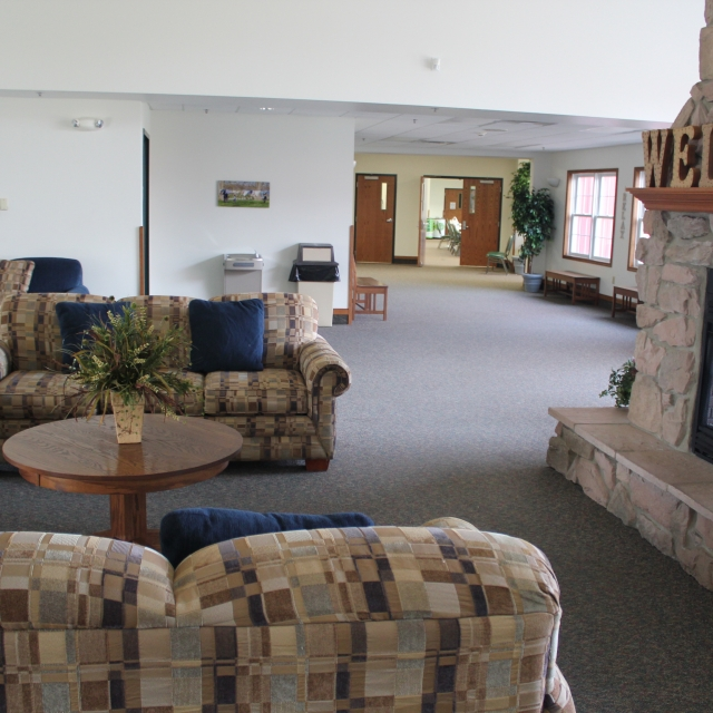 Farmstead Inn Conference Center Lobby in Shipshewana