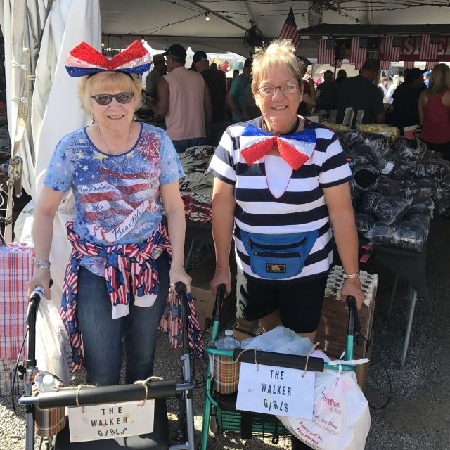 Walker Girls dressed up for Memorial Day at the flea market in Shipshewana, Indiana