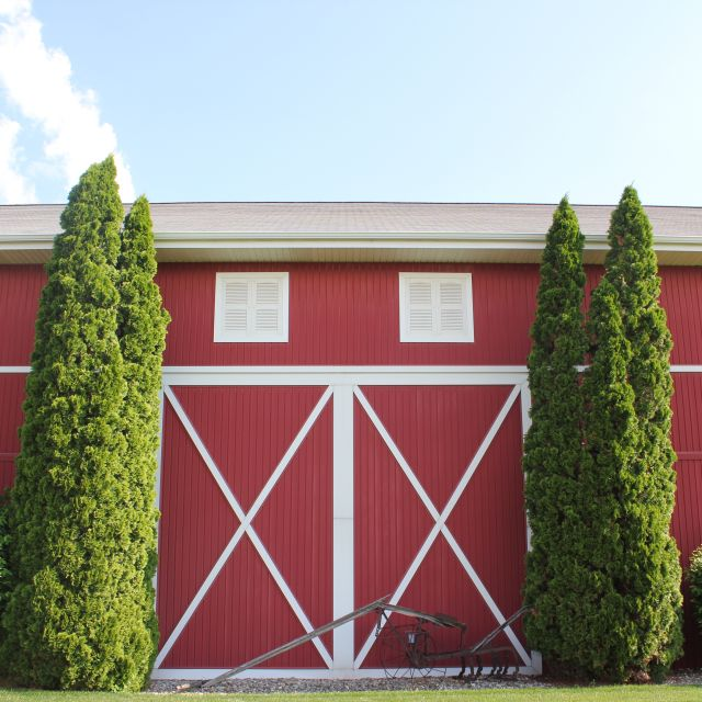 Shipshewana Indiana Farmstead Expo Barn Event Venue Exterior