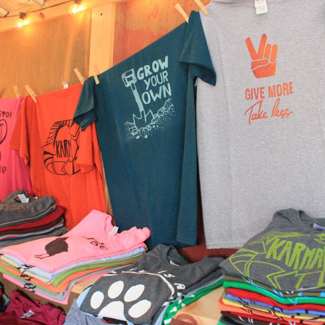 Hand painted T-shirts by Taproot Tees at the Shipshewana Flea Market