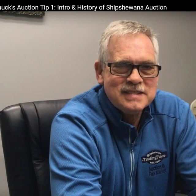 Chuck Haarer's Shipshewana Miscellaneous and Antique Auction Buyer Tip 1