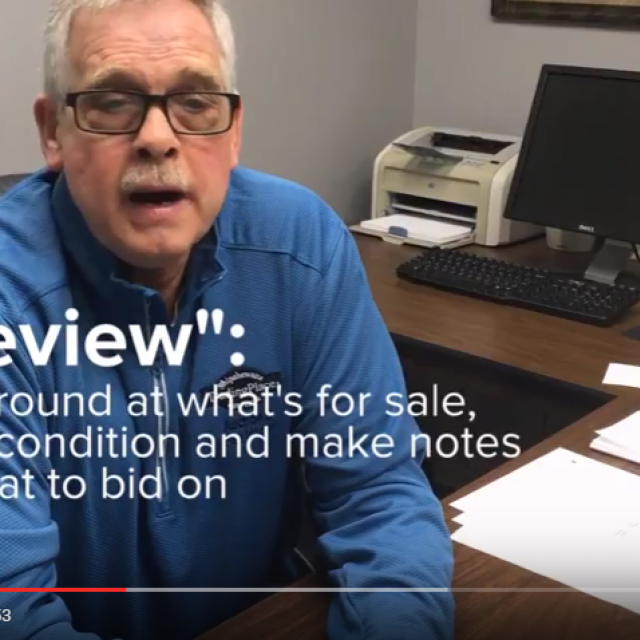 How to preview items at Shipshewana Auction Chuck's Auction Buyer Tip Video