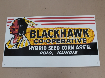 Blackhawk Sign Shipshewana Antique Specialty Sale