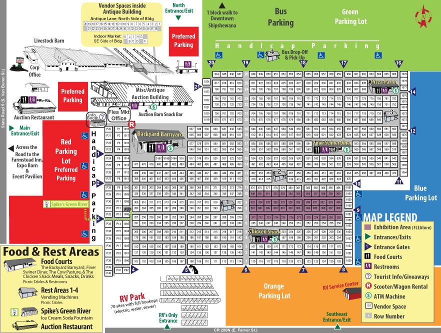 Shipshewana Flea Market 2017 Map