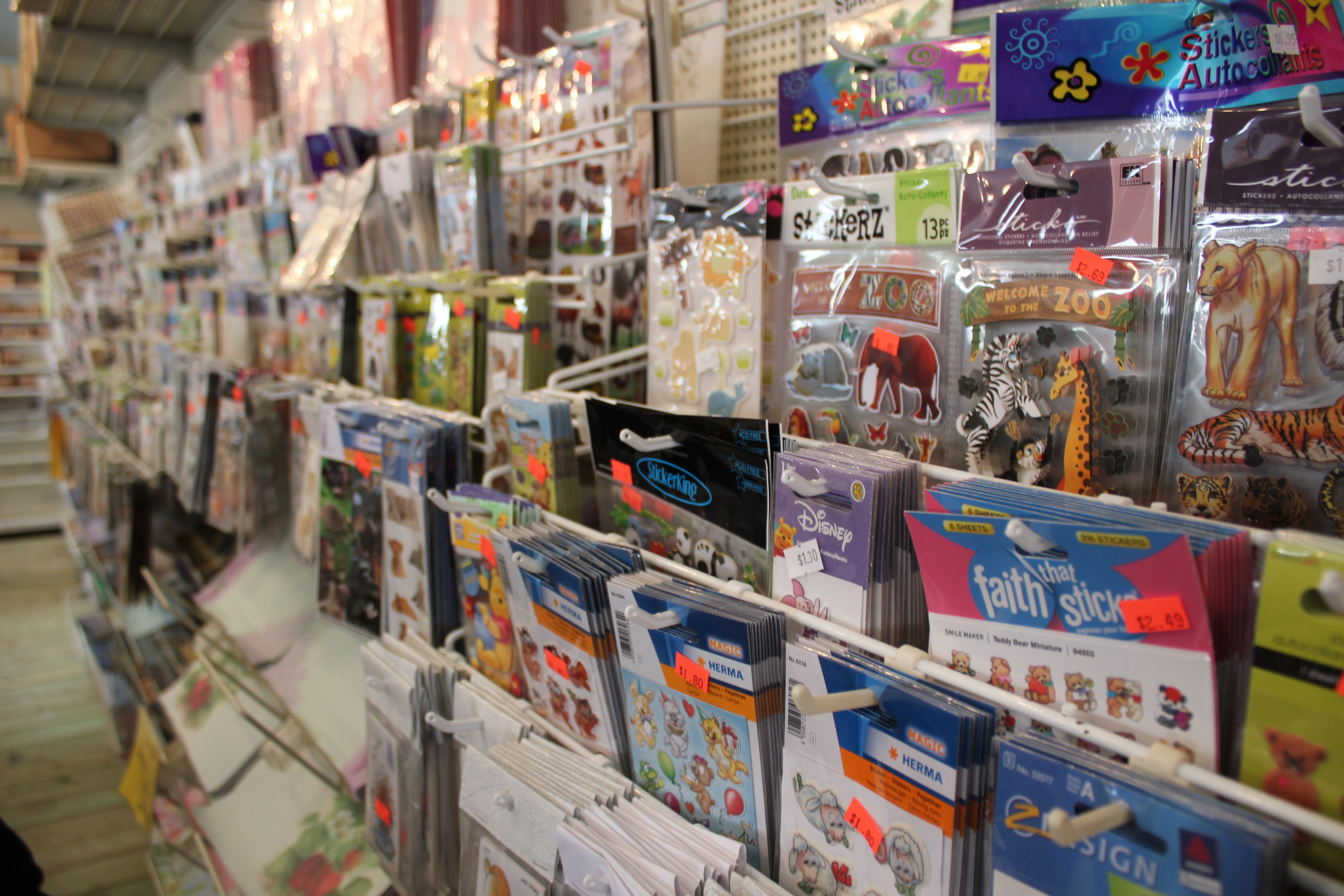 Scrapbooking supplies at Shipshewana Flea Market in Indiana