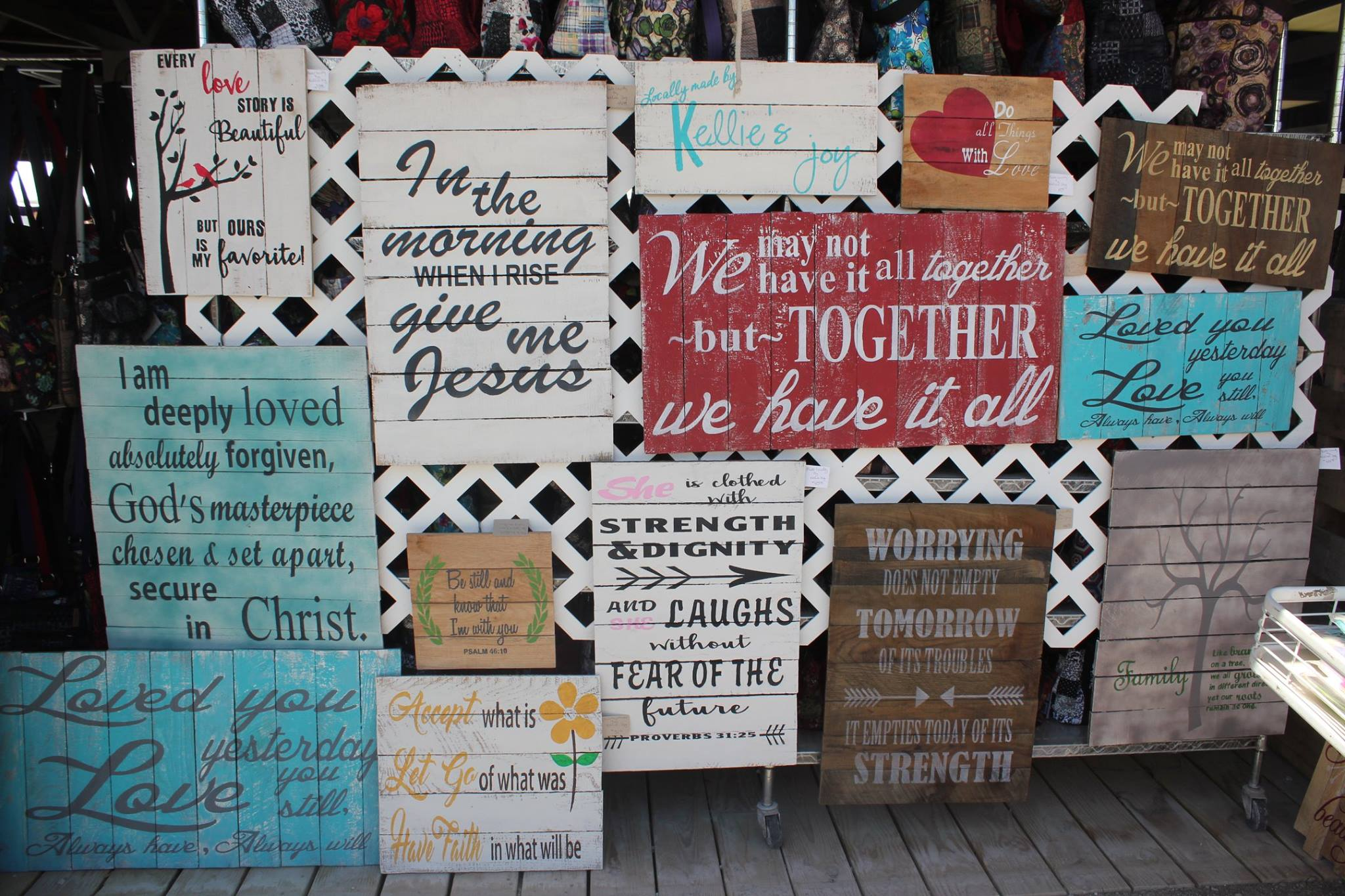 Kellie's Joy Signs at Shipshewana Flea Market painted