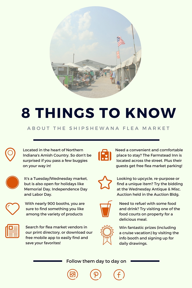 8 Things to Know about the Shipshewana Flea Market Infographic