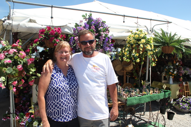 Husband and Wife owned silk flower business at Gate 12 at the Shipshewana Flea Market